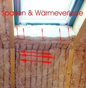 Dämmung Dachfenster mit Fehlstellen