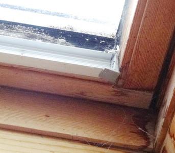 feuchte Flecken Dämmung Dachfenster mit Fehlstellen